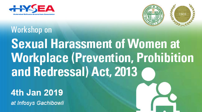 Workshop on Sexual Harassment of Women at Workplace (Prevention, Prohibition and Redressal) Act, 2013 - 4th Jan 2019 at Infosys Ltd, Gachibowli